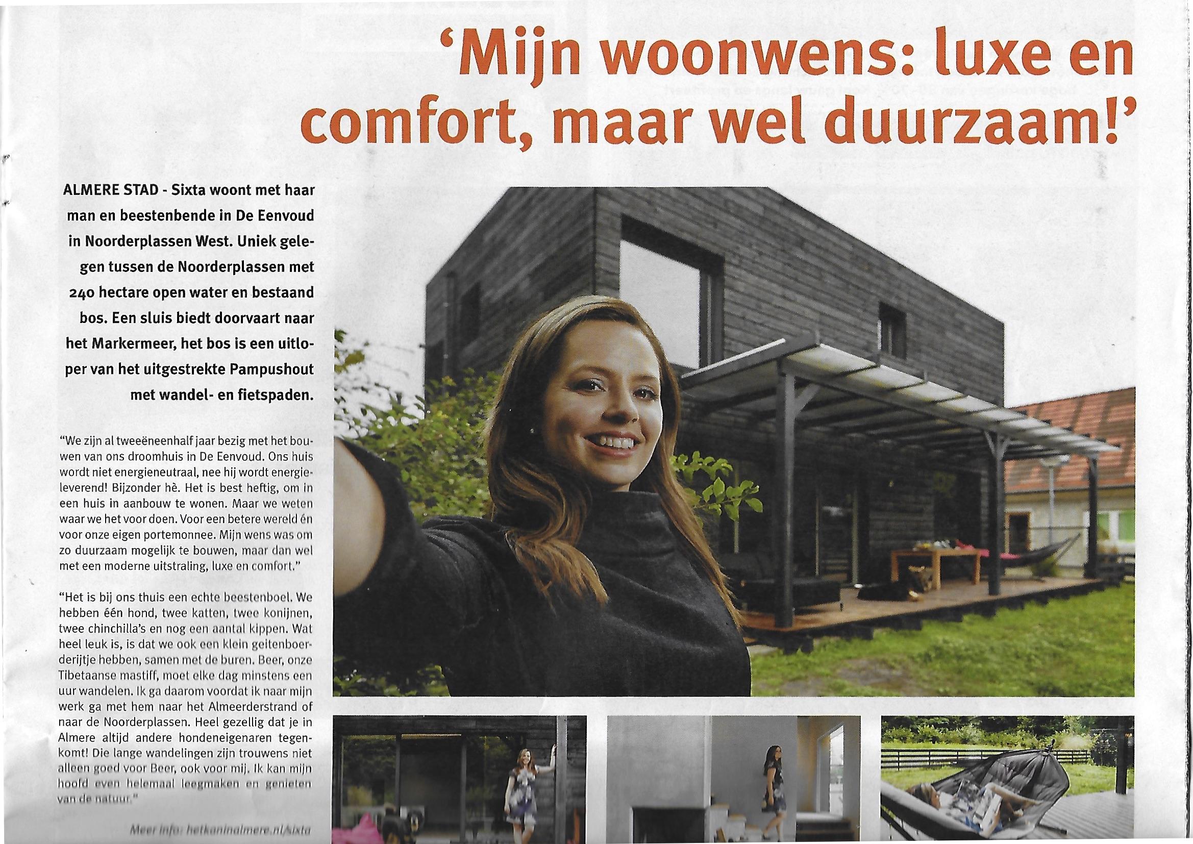 Mijn woonwens: luxe en comfort, maar wel duurzaam!