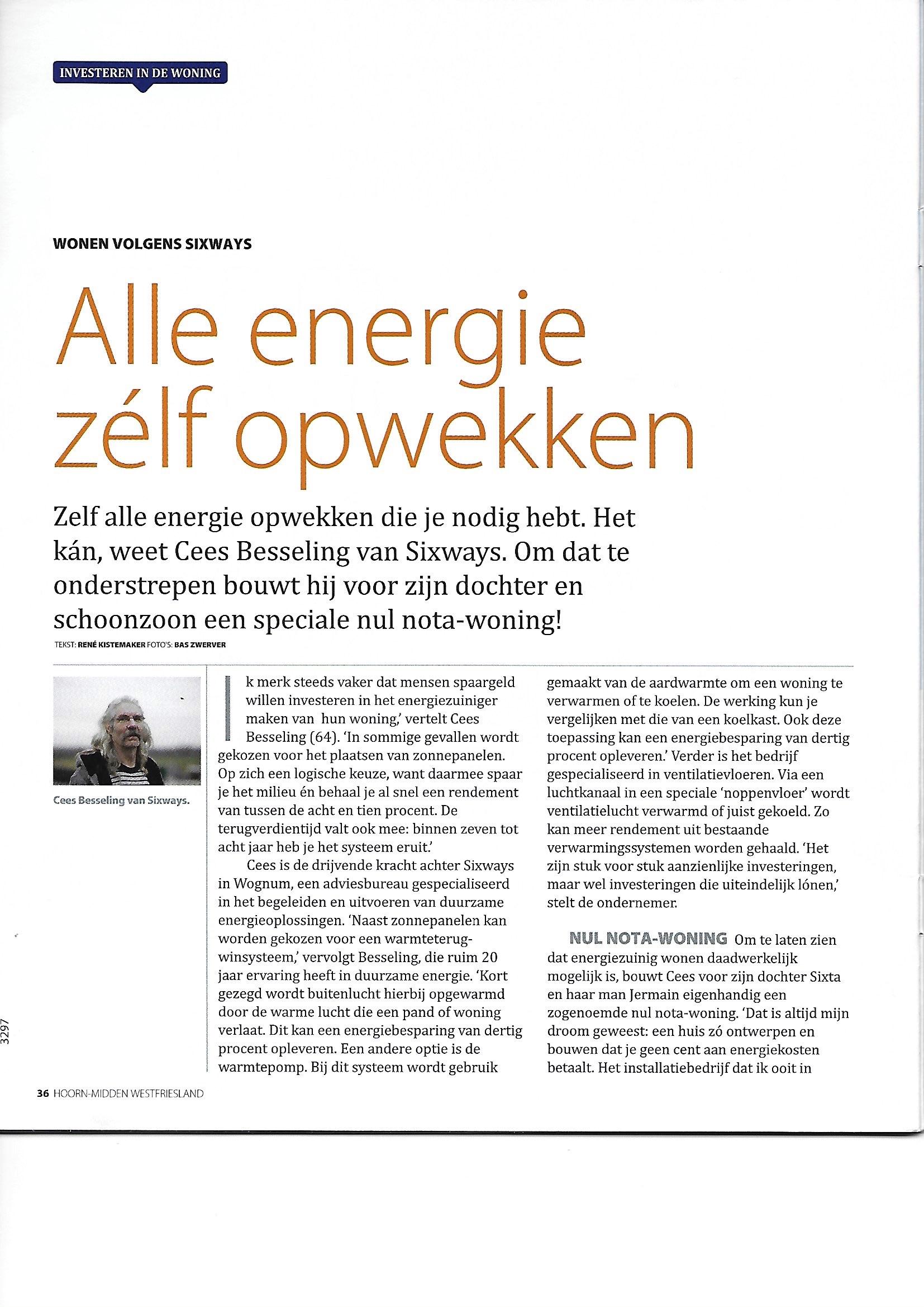 Wonen volgens Sixways: alle energie zélf opwekken